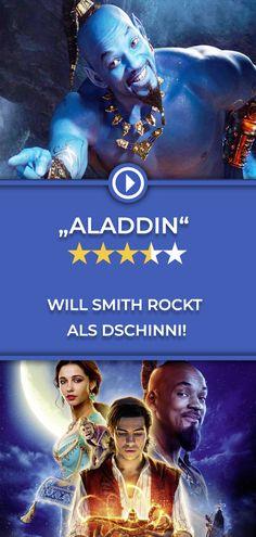 In der Realverfilmung des Disney-Klassiker überzeugt vor allem Hollywood-Star Will Smith als blauer Dschinni! Die ganze Kritik gibt es auf filmstarts.de! Hollywood Stars, Will Smith, Mena Massoud, Guy, Star Wars, Aladdin, Disney, Movies, Movie Posters