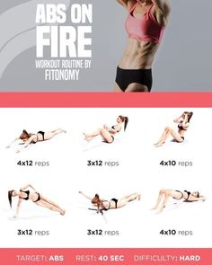 Abs on fire video workout! ✅ – Try it and feel the burn Double tap + Save … Abs on fire video workout! ✅ – Try it and feel the burn Double tap + Save + Tag a friend . By Fitonomy Abs On Fire Workout, Sixpack Abs Workout, Abs Workout Routines, At Home Workouts, Ab Workouts, Fitness Herausforderungen, Fitness Motivation, Health Fitness, Fitness Tracker