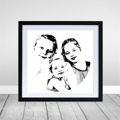 Our three girls - such a powerful image - pure black and white. Love this...it's definitely going on the wall.