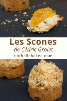 La recette de scones de Cédric Grolet que l'on peut déguster au tea time du Meurice. Moelleux et croustillants grâce à l'ajout d'un crumble, ces scones agrémentés de clotted cream et de confiture feront le parfait goûter! #scones #clottedcream #cedricgrolet #nathaliebakes   nathaliebakes.com