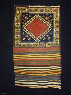 Qasqhay Bag Complete Size: 54x92cm (1.8x3.1ft) Natural colors, made in circa 1910