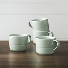 Apartminty Fresh Picks: Fall Favorites | Set of 4 Hue Green Mugs | A bevy of Fall beverages making their way back into our cups is the perfect excuse to pick up a fresh new set of mugs!  We love the light green color of this set from Crate & Barrel