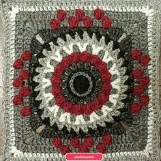 "KalevalaCal 2017 14. ""Sammon taonta"" Tapestry, Sewing, Crochet, Crafts, Home Decor, Crochet Squares, Pattern, Grey, Hanging Tapestry"