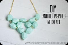 DIY Anthro Inspired Seafoam Necklace : DIY Jewelry DIY Necklace