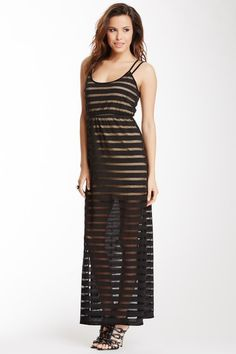 Wow Couture Loose Knit Stripe Maxi Dress on HauteLook
