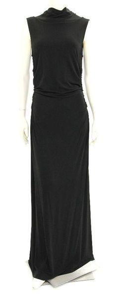Escada Black Sleeveless High Neck Evening Dress Size 40 #Escada #EveningDress