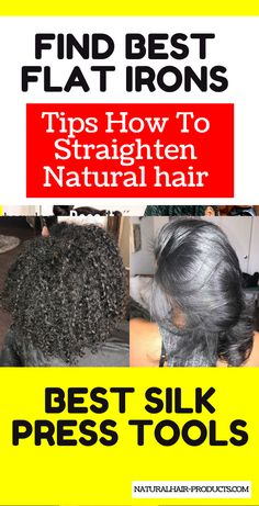 Get your heat-styled hairstyles for Black women poppin'! Find products for the best way to get women and kids hair straight with flat irons for styling. Healthy tips at home for a natural hair silk press...  #flatirons #silkpress #naturalhair Natural Hairstyles For Kids, Natural Hair Styles For Black Women, Black Women Hairstyles, Pressed Natural Hair, Natural Hair Tips, Silk Press Hair, Hair Straightener Reviews, Hair Care Recipes, Coarse Hair