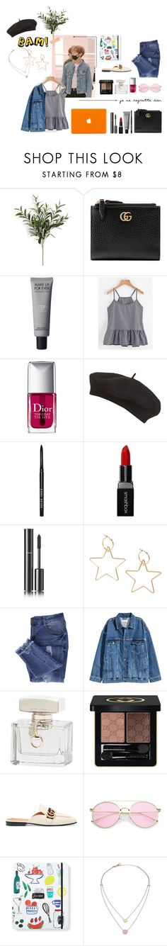 """""""Taehyung Dating"""" by soojinchoi ❤ liked on Polyvore featuring Gucci, Christian Dior, Topshop, Bobbi Brown Cosmetics, Smashbox, Chanel, Essie, Kate Spade and Michael Kors"""