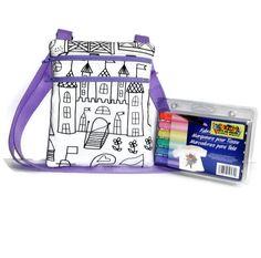 Color Me Bag, Personalized Bag, Little Girls Bag, Sling Bag, Girls Purse, Kids Bag, Small Messenger Bag, Small Girls Purse, Childrens Purse - pinned by pin4etsy.com