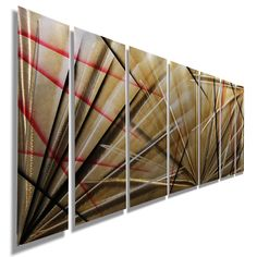 Meteor Eclipse - Unique Red, Black and Tan Contemporary Metal Painting - 68 Metal Wall Sculpture, Wall Sculptures, Mother's Day Deals, Abstract Metal Wall Art, Nails And Screws, Pigment Coloring, Holiday Sales, The Ordinary, Modern Decor