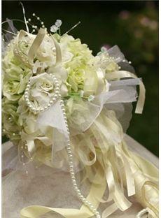 Fantaisie Tissu jaune de fleurs de soie nuptiale de bouquet de mariage