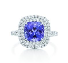 Tiffany & Co. | Item | Tiffany Soleste ring of tanzanites and diamonds in platinum. | United States