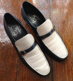 Free Shipping  Navy and White SlipOn Leather by presleypigs, $38.00