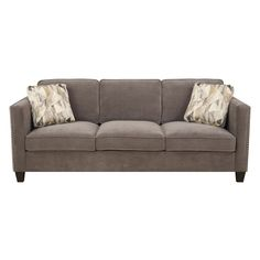 Focus Sofa Charcoal W/2 Accent Pillows Emerald Home Furnishings Sofas Sofas & Sectionals L