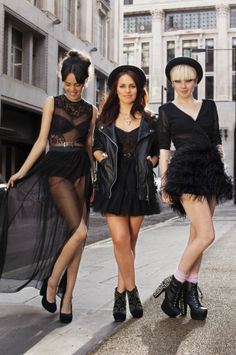 Fashion bloggers Jazmine Rocks, Amy Spencer and Stella Kattermann model pieces from the latest Miss Selfridge collection