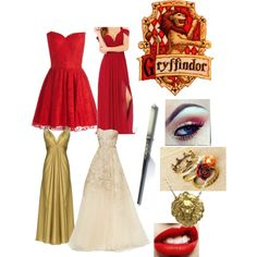 """Yule Ball- Gryffindor"" by aquata on Polyvore"