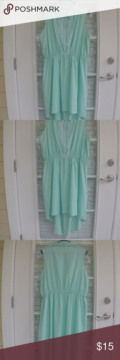 Mint summer dress 👗 Dress perfect for any occasion. Very light and airy. Pink Rose Dresses High Low