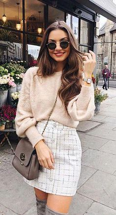 Perfect Spring Outfits to Wear Now Vol. Spring Outfits, Perfect Spring Outfits to Wear Now Vol. Paris Outfits, Winter Fashion Outfits, Girly Outfits, Mode Outfits, Cute Casual Outfits, Stylish Outfits, Spring Outfits, Autumn Fashion, Paris Spring Outfit