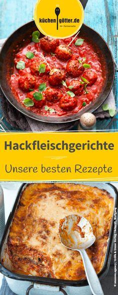 Hackfleischgerichte schmecken der ganzen Familie. Wir verraten euch unsere besten Rezepte. Von klassischer Lasagne, über Hackfleischtorte, bis hin zu Hackbällchen in Tomatencreme.