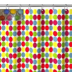 Add stylish charm to the bathroom with this polyester shower curtai...