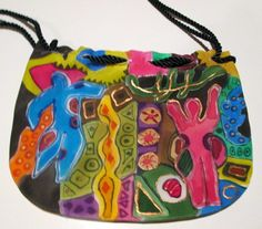 Silk Purse, Hand painted, Picasso, handmade in the USA, OOAK-by Silkworth on Etsy................. AMAZING colors and workmanship.