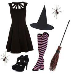 Cute Witch Halloween Costume Idea: