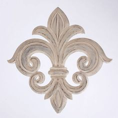 Product Wall Décor Construction Material Wood Color Whitefeatures Fleur De Lis Motif Dimensions H X W D Note Not Recommended For Outdoor Usecleaning