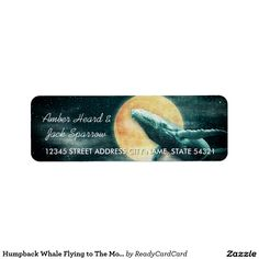 Humpback Whale Flying to The Moon Address Labels 5 sheets - Fantasy Humpback Whale Flying to The Moon Address Labels Size: x Color: White. Fly Lady Cleaning, L Names, Fly Quotes, Rare Animals, Strange Animals, Pet Rats, Pets, Addressing Envelopes, Humpback Whale