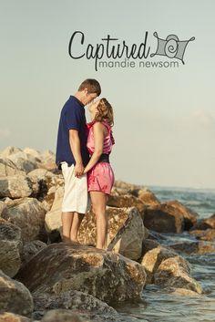 engagement beach couples mandie newsom www.mandienewsom.com