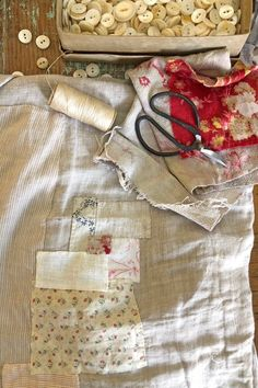 extreme mending and how to make a front bustle and scrap binding – ann wood handmade Ann Wood, Visible Mending, Make Do And Mend, Fabric Dolls, Fabric Art, Applique Designs, Fabric Scraps, Textile Art, Hand Stitching