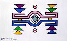 Esther Mahlangu African Design, African Art, African Prints, Africa Symbol, Bamboo Fun, Mural Art, Surface Pattern Design, The Ranch, Teaching Art
