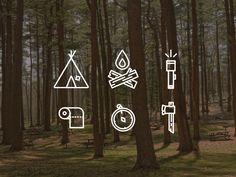 Camping Icons Set | Pictogram Design