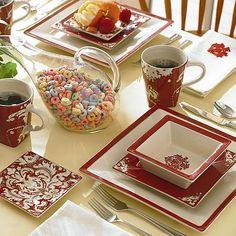 Biltmore Inspirations Damask Dinner Plates - Set of 2