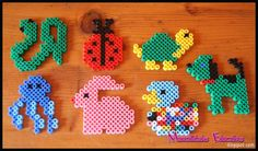 Animals hama beads by Manualidades educativas Perler Beads, Bead Crafts, Diy And Crafts, Pony Bead Projects, Iron Beads, Beading Patterns, Fun Activities, Panda, Bird