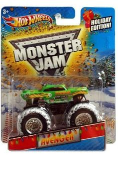2011 Hot Wheels Monster Jam Holiday Edition AVENGER 1/64 Scale Collectible Truck with Monster Jam TATTOO, http://www.amazon.com/dp/B006N0T0UW/ref=cm_sw_r_pi_awdm_eLMqtb0XXN9DT