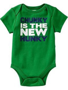 Humor-Graphic Bodysuits for Baby