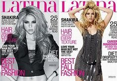 Shakira on the cover of Latina- love the hair and eyes