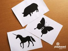 12 High Contrast Animal Baby Flash Cards Black and by playbased