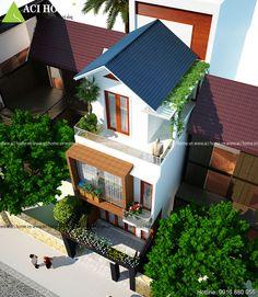 Mẫu kiến trúc thiết kế nhà phố hiện đại sang trọng và tiện làm công ty tại Thái Bình