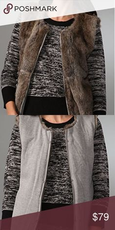 """LaRok La Rok Rabbit fur reversible vest Super luxe and soft. This is flawless and can be worn alone or under a jacket for added warmth. Zip closure, small hand pockets. I believe due to the small button holes that this could be used to attach to a LaRok parka. No size listed. Flawless condition. No odors.  I'm calling this a small due to the fit: 35"""" bust, 34"""" waist, 25"""" length. LaRok Jackets & Coats Vests"""