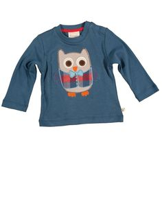Applique Top - Wise Owl: Frugi Wise Owl, Cute Baby Clothes, Cute Babies, Sweatshirts, Boys, Sweaters, T Shirt, Fashion, Appliques