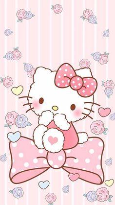 Walpaper Hello Kitty, Hello Kitty Iphone Wallpaper, Hello Kitty Backgrounds, Sanrio Wallpaper, Cartoon Wallpaper, Iphone Backgrounds, Iphone Wallpapers, Wallpaper Backgrounds, Hello Kitty Art