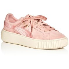 7ca03e9d827c Puma Women s Satin Stripe Platform Lace Up Sneakers ( 115) ❤ liked on Polyvore  featuring shoes