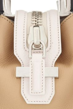 Givenchy - Small House de Givenchy bag in black, beige and ivory leather Sewing Leather, Leather Craft, Leather Bag, My Bags, Purses And Bags, Givenchy Handbags, Leather Workshop, Leather Projects, Leather Design