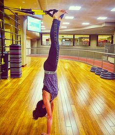 Stand tall. Photo cred: Instagrammer Cougarhood. #repost #TRX #trxtraining #fitness #trainanywhere #functionaltraining #handstand