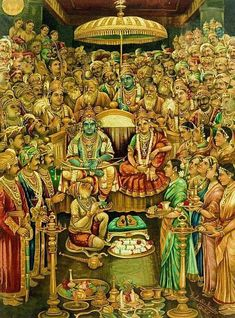 "Rare painting of ""Lord Rama and Seeta"" at time of marriage. Mysore Painting, Tanjore Painting, Lord Sri Rama, Shri Ram Wallpaper, Ram Image, Lord Rama Images, Lord Hanuman Wallpapers, Shri Hanuman, Durga Maa"