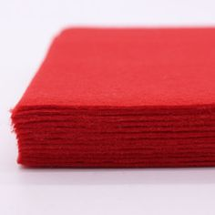 20cmx30cm Diy Polyester Felt Fabric Squares Sheets Non Woven Red 2mm Thickness For Sewing Diy Craft Needlework 12 Pcs