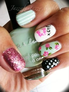 Betsey Johnson inspired nails... love it!