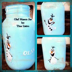 Frozen Inspired Mason Jar, Olaf Edition by: Tina Listro