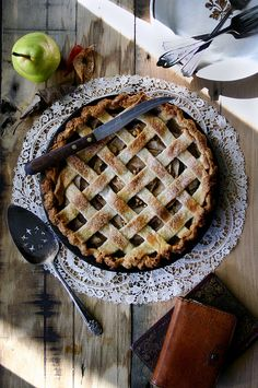 Pear, gorgonzola, and walnut pie.